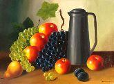 """Картина на холсте """"Натюрморт с фруктами и кувшином"""""""