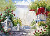 """Картина на холсте """"Вилла в Италии"""""""