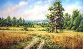 "Картина на холсте ""Пшеничное поле"""