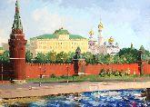 """Картина на холсте """"Кремлевская стена"""""""