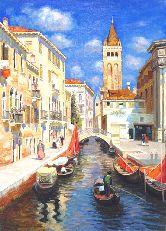 """Картина на холсте """"Тихий день в Венеции"""""""