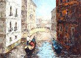 """Картина на холсте """"Лодки на воде"""""""