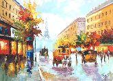 "Картина на холсте ""Старинный Париж"""