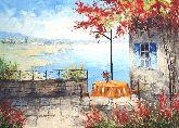 "Картина на холсте ""Терраса на крымском берегу"""