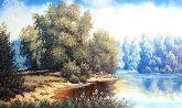"""Картина на холсте """"Вечерний лес"""""""