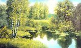 "Картина на холсте ""Солнечно лесной пруд"""