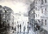 "Картина на холсте ""Старинная улица Москвы"""