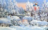 """Картина на холсте """"Зимний день"""""""