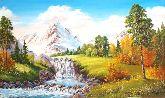 """Картина на холсте """"Горный водопад"""""""