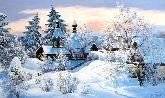 """Картина на холсте """"Зимние сумерки"""""""
