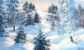 "Картина на холсте ""Зимняя красота"""