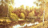 """Картина на холсте """"Вечер на реке"""""""