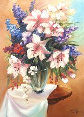 "Картина на холсте ""Розовые лилии"""