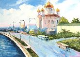 "Картина на холсте ""Храм Христа спасителя"""