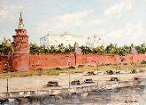 """Картина на холсте """"Красная площадь. Кремль"""""""