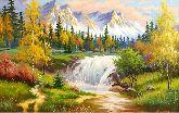 """Картина на холсте """"Осень в горах"""""""