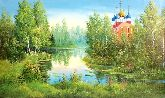 """Картина на холсте """"Рязанский кремль летом"""""""