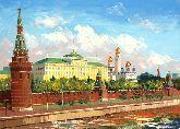 "Картина на холсте ""Кремль"""