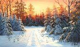 "Картина на холсте ""Морозное утро"""