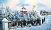 """Картина на холсте """"Рязанский кремль зимой"""""""
