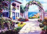 """Картина на холсте """"Арка в цветах"""""""