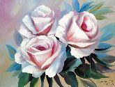 "Картина на холсте ""Белые розы"""