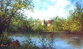"""Картина на холсте """"Церковь у пруда"""""""