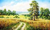 "Картина на холсте ""Русское поле"""
