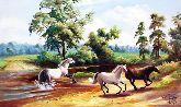 """Картина на холсте """"Лошади на природе"""""""