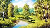 "Картина на холсте ""Русский пейзаж"""