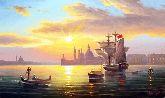 """Картина на холсте """"Вид Венеции на закате"""""""