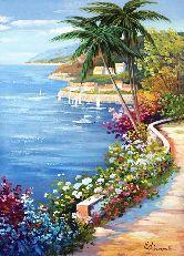 """Картина на холсте """"Летний день у моря"""""""