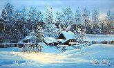 """Картина на холсте """"Зимняя тишина"""""""