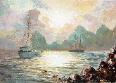 """Картина на холсте """"Парусники в море"""""""