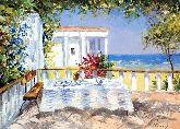 "Картина на холсте ""Завтрак у моря"""