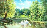 """Картина на холсте """"Лебединое озеро"""""""