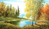 """Картина на холсте """"Осень в лесу"""""""