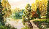"""Картина на холсте """"Летний пейзаж"""""""