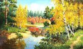 """Картина на холсте """"Осенние мотивы"""""""