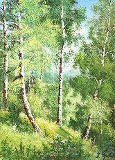 "Картина на холсте ""Русский лес"""