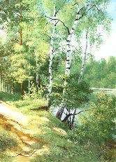 """Картина на холсте """"Утро в лесу"""""""
