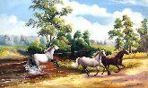 """Картина на холсте """"Игры лошадей"""""""