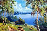 """Картина на холсте """"На берегу озера"""""""