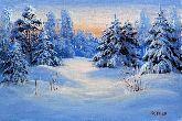 """Картина на холсте """"Зимний вечер"""""""