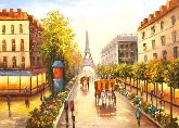 "Картина на холсте ""Огни вечернего Парижа"""