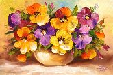 """Картина на холсте """"Цветы в вазе"""""""