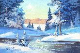 "Картина на холсте ""Зимний лес"""