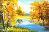 """Картина на холсте """"Золотая осень"""""""