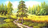 """Картина на холсте """"Путь леса"""""""