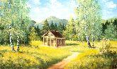 """Картина на холсте """"Загородный домик"""""""